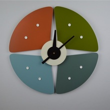 Replica designer petal Sunflower clock/watch wall/Creative clock/quartz watch/Wholesale wooden wall clock/free shipping