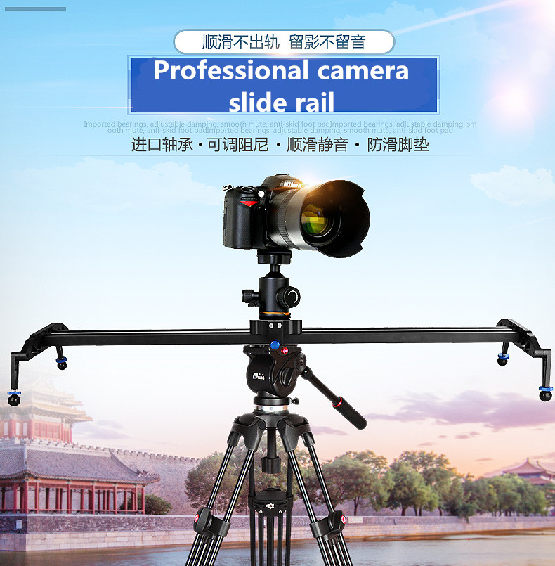 40/100cm Ball Bearing Based Dslr Camera Slider(middle) Rail Track Dolly Video Stabilization System for Camcorders NO00DC ye 5d2 super mute 3 wheel truck dolly slider skater for dslr camera black