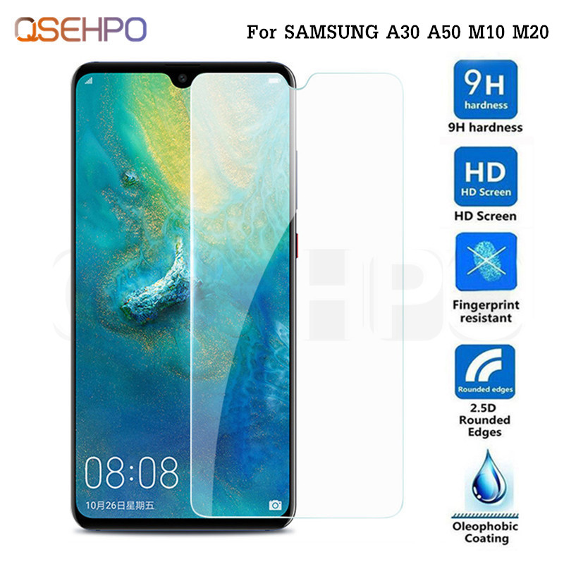 2.5D 9H Tempered Glass For Samsung Galaxy A50 A30 A505F A305F Glass Screen Protector For Samsung M20 M10 Glass Protective Film2.5D 9H Tempered Glass For Samsung Galaxy A50 A30 A505F A305F Glass Screen Protector For Samsung M20 M10 Glass Protective Film
