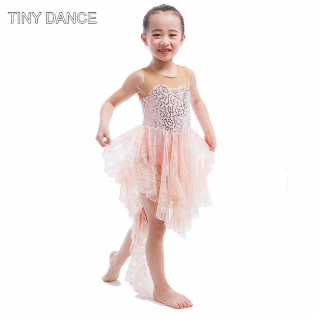 d41196a55bbe Adult girls ballet dance sequin lace dress Lyrical dance costume for  performance stage wear women's ballet dancing dress 16003