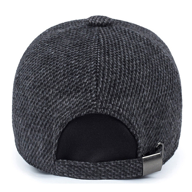 0844a506dad TUNICA Woolen Knitted Design Winter Baseball Cap Men Thicken Warm Hats with  Earflaps