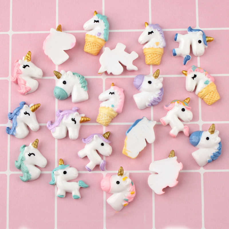 CCINEE Color Unicorn Resin Multiple Styles Diy Resin Accessories DIY Craft Supplies