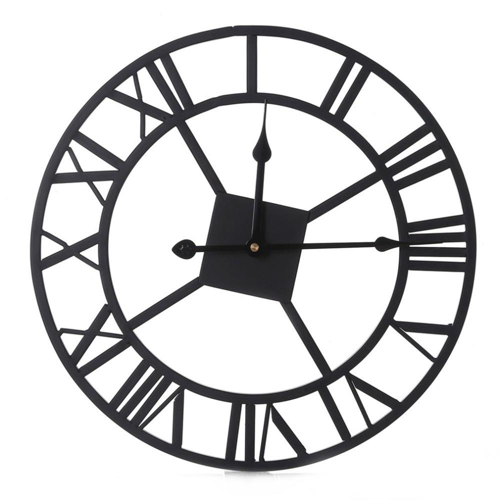 European Style Rome Numerals Wall Clock Vintage Decorative Clock For Living Room Bedroom Office Large Quartz Clock