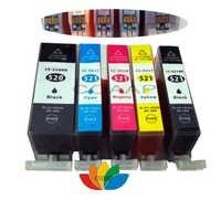 5x Kompatiblen Drucker PGI-520 CLI-521 Patrone mit Chip für CANON PIXMA MP540 MP550 MP560 MP620 MP630 MP640 MP980 MP990 MX860