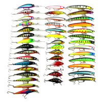 43pc Fishing Lure Set 6 Models Fishing Lure Minnow Hard Bait Vissen Accessories 3D Fish Eyes Fishing Lure Jig With Hook 30AT23