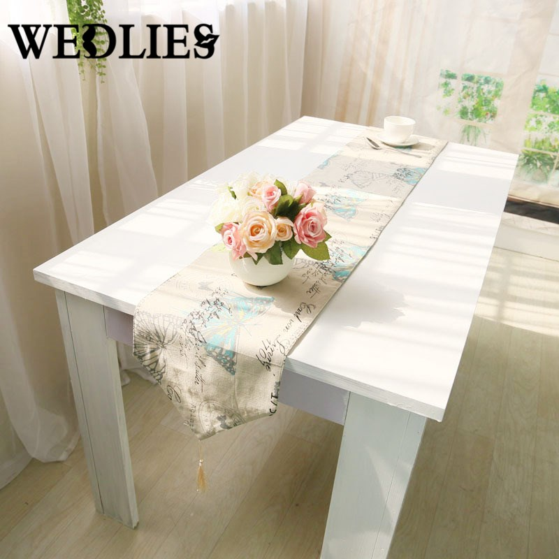 table runner linen british textile butterfly soft table flag home textile sofa linens kitchen dinner