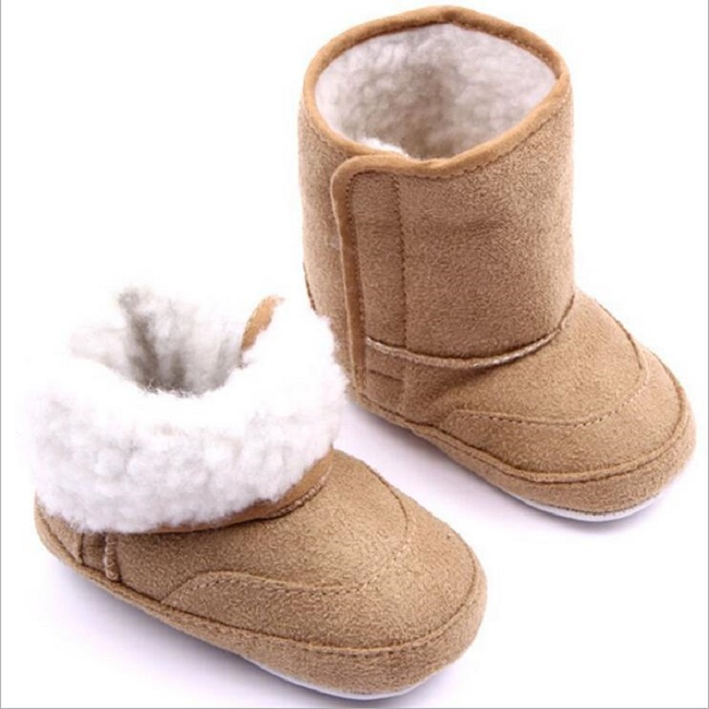 Baby Winter Boots Kids Shoes Newborn Infant Toddler First Walker Warm Girls Boys Soft Sole Anti-Slip Prewalker Baby Shoes Booty