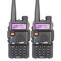 2 unids original radio portátil walkie talkie baofeng uv-5r de banda dual 136-174 400-520 mhz ham radio estación de baofeng uv-5r