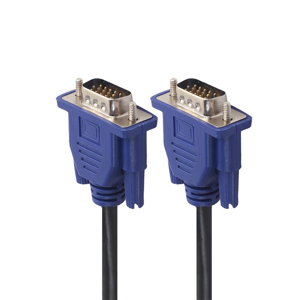 1.5m/3m/5m VGA Extension Cable HD 15 Pin Male to Male VGA Cables Cord Wire Line Copper Core for PC Computer Monitor Projector 1m 1 8m 3m e sata esata male to male extension data transfer cable cord for portable hard drive 3ft 6ft 10ft