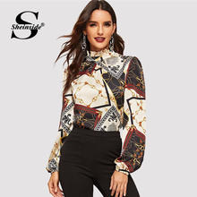 Sheinside Elegant Long Sleeve Women Blouse Shirt