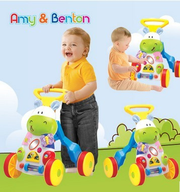 Infant walker stroller multifunction wooden baby walker toys