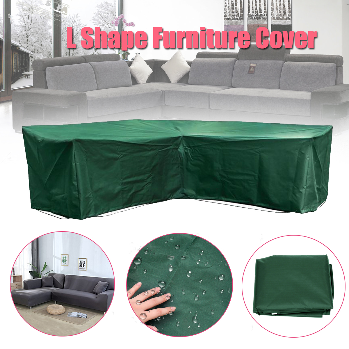 Us 17 06 50 Off Waterproof Garden Outdoor Furniture Rain Cover Cloth Sets Polyester Dustproof Protect Fabric For Sofa Suits Home Black In