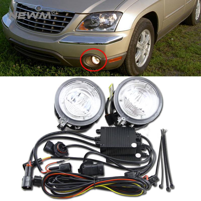 20W Led Fog Light Halo Angle Eyes DRL For CHRYSLER PACIFICA /SEBRING CONVERTIBLE 04-06/SEBRING SEDAN/STRATUS SEDAN osias new fuel pump assembly tu111 for chrysler cirrus sebring stratus breeze ref e7089m sp6043m 402 p7089m