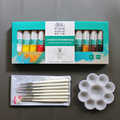 Nail Set 3PCS/SET 12 Colors Fine Acrylic Paint Set+Nail Painting Pen+Palette Tools