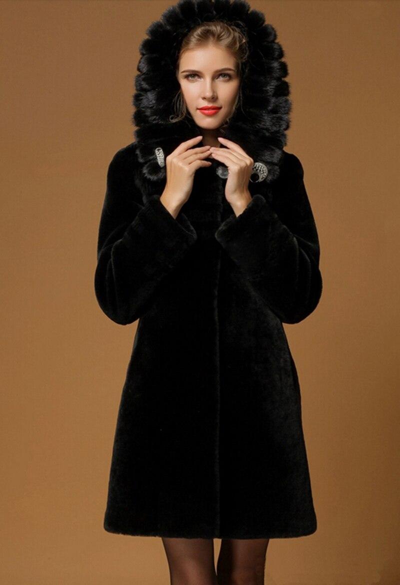 manufacture Warm Luxury Fur Coats For women 100% natural fur Coat ...