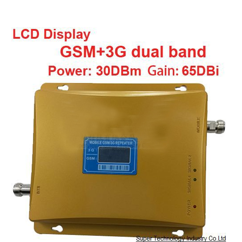 POWER Model 980 Power 30 Dbm Gain 65dbi LCD Display Dual Bands GSM+3G Booster Repeater Dual Bands Booster WCDMA Repeater