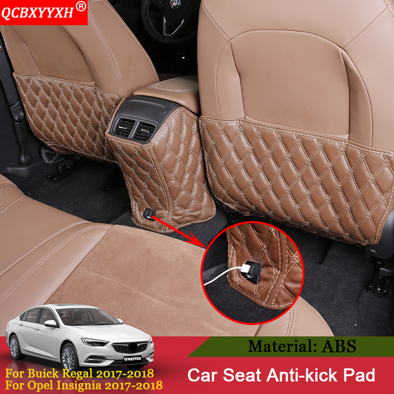 QCBXYYXH For Buick Regal Opel Insignia 2017 2018 Car Seat Back Anti-Child-Kick Pad Cover Backseat Children Protect Mud Dirt Mat