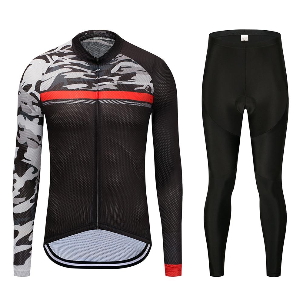 2018 Firty Snow Cycling pants bike winter cycling clothing cycling set long sleeve Sportswear coat cycling jersey