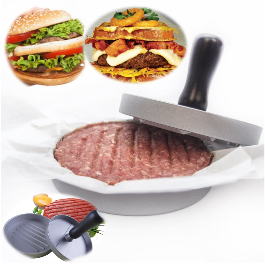 New Aluminium Hamburger Press BBQ Grill Stuffed Burger Presser Pattis Beef French Meat Maker Mold Cooking Tools Kitchenware