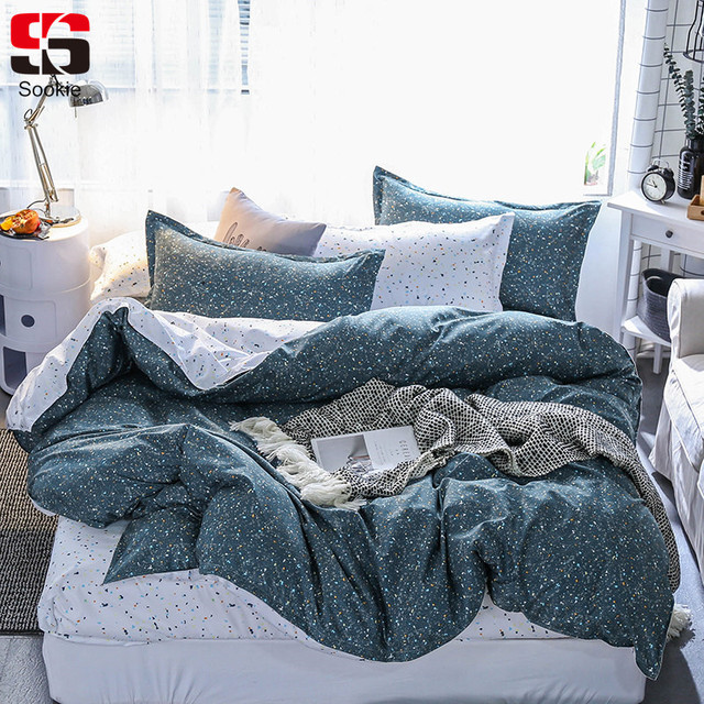 072dc1701802 Sookie Dots Print Bedding Set Twin Full Queen King Size Duvet Cover Sets  Modern Style Bedclothes 3pcs Soft Bed Linen