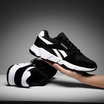 fd9874eb9 Hemmyi Das Sapatilhas Dos Homens Casuais Malha Respirável Sapatos Ao Ar  Livre Primavera Outono Lace-Up Masculino Adulto Luz Calçado Zapatos De  hombre