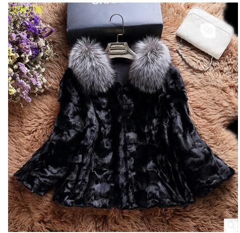 Casaco De Pele Falso Female Short Faux Mink Fur Collar Jackets Winter Autumn Casual Fur Coats Women Man Made Fur Coats K308