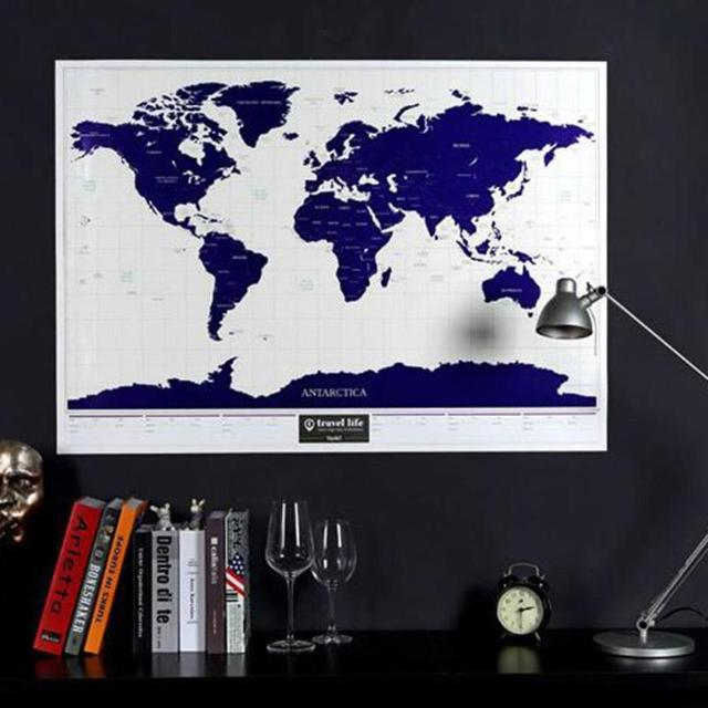 Creative scratch off world map poster personalized travel world creative scratch off world map poster personalized travel world map wall sticker traveler log geographic map gumiabroncs Images
