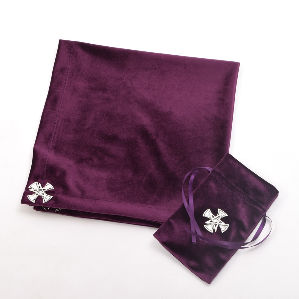 Tarot TableCloth Bag Altar Divination Cards Wicca Cloth Cross Star Pattern Pouch