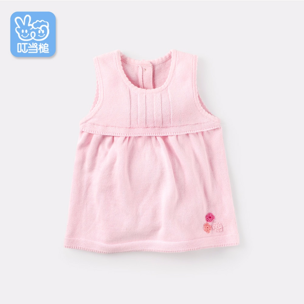Dinstry Baby dress aged 0 1 2 baby girl spring and autumn, 3 4 girl one piece dress autumn vest dress