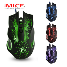 Cheapest Imice X9 2400DPI LED Optical USB Wired Gaming Mouse Gamer Computer PC Laptop Professional Game Mice