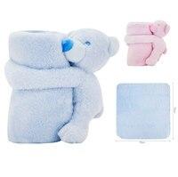 Baby Blankets Newborn Cute Bear Blanket Soft Warm Swaddle Kids Bath Towel Baby Toddler Bedding Blankets