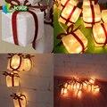 2 M Caja de Regalo Del Partido de Navidad de Luz 10-LED Cadena Luminosa Decoración de Navidad Fiesta de navidad