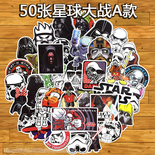 Doodle stickers 50 Star Wars A amazon explosive car waterproof rolling suitcase stickers
