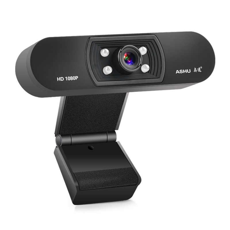 كاميرا ويب 1080P ، هد كاميرا الويب عصر مع المدمج في هد ميكروفون 1920x1080 p أوسب التوصيل ن اللعب كاميرا الويب ، عريضة الفيديو