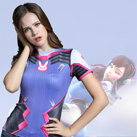Game OWT Costume Watch Over Tshirt Casual Tracer Female Hero DVA Widowmaker Mercy Cos T Shirt Clothing Cosplay Style Clothing