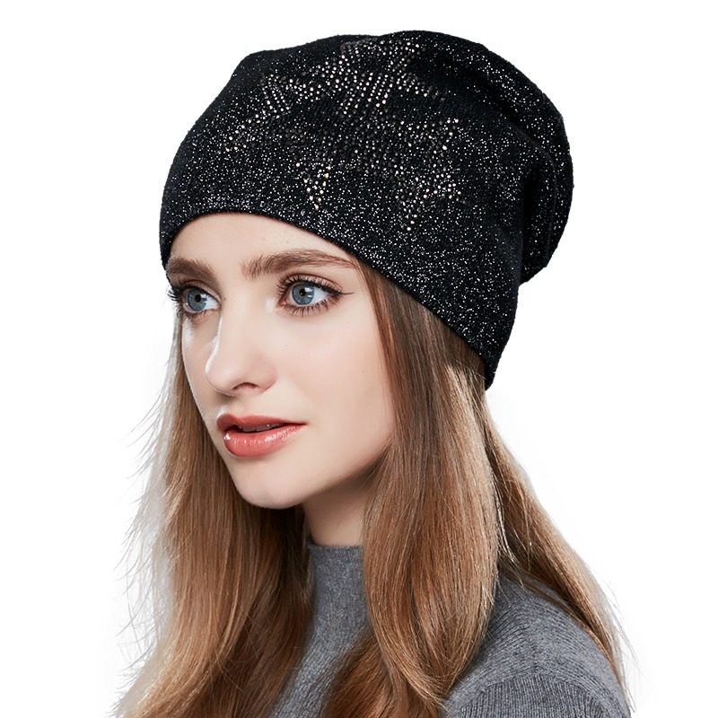 fd12226b ENJOYFUR Slouchy Winter Hat Wool Knitted Women's Hats Gravity Falls Cap Girl  Thick Warm Skullies Beanies
