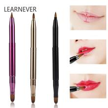 Learnever 3 Style Applicator Portable Lip Brush Double-headed Retracta