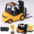 Мини RC Игрушки Вилочный Радио Пульт Дистанционного Управления Погрузчиков RC Truck Crane Car Kid Toys