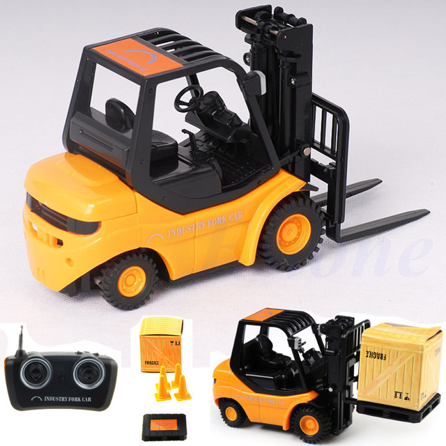 mini rc toy fork lift radio remote control forklift rc truck crane car kid toys