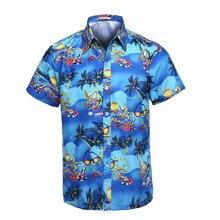Hawaiihemd Männer Kurzarm Sommer Klassische Hawaii Strand Männlichen Casual Shirts Blumendruck Mens Designer Phantasie Camisa Sozialen