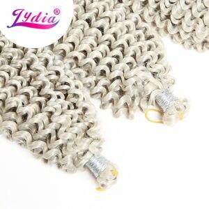 "Image 2 - Lydia Freetress Synthetic Silvergray 28"" 3Pieces/lot Bohemian Crochet Braid Hair Extensions Latch Hook Braiding Hair Bulk"