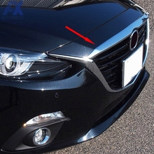 AX автомобильный Стайлинг хромированный передний капот решетка гриль для губ литьевая крышка отделка бар спойлер гарнир для Mazda 3 Axela