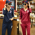 Suit Women Autumn Sweater Suits For Fitness Long Sleeve Solid Hooded Sweaters Soft Sportswear Casual Suits Coat