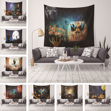 Halloween Wall Hanging Printed Pumpkin Tapestry Witch Horrible Tapestry Funny home Decor Yoga Mat Beach Towel Holiday Gift halloween witch printed waterproof wall hanging tapestry
