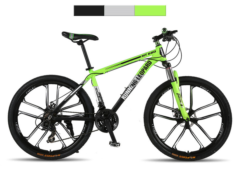 Running Leopard mountain bike 26 inch 21/24 speed bikes aluminum alloy frame mountain bike Mechanical double disc brake bicycle