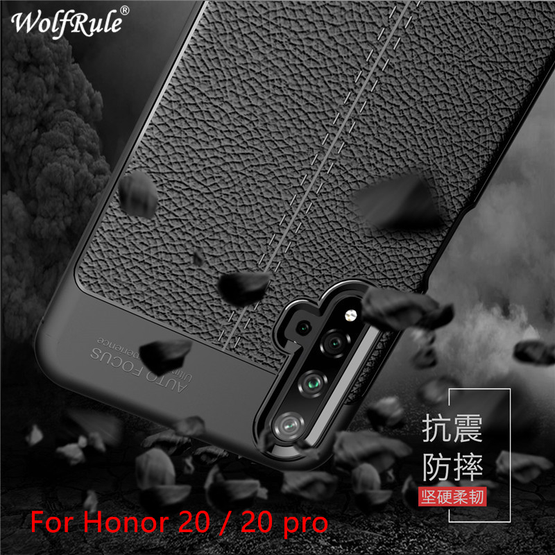 Case Honor 20 Phone Cover Shockproof Luxury Leather Soft TPU Case Honor 20 Case For Huawei Honor 20 Pro Fundas 6.26 image