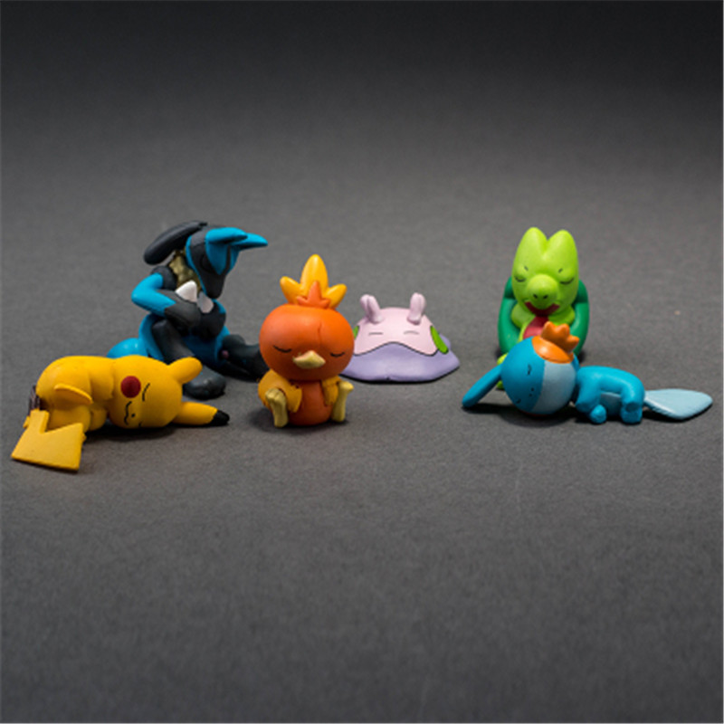 Image 3 - TAKARA TOMY POKEMON Sleeping Series Pika Squirtle Charmander Bulbasaur Action Figure Toys Collections Gifts Toys for Children-in Action & Toy Figures from Toys & Hobbies