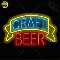 Craft Beer Neon sign Glass Tube Bulb Light icons light Advertis Store display Signboard Handmade neon light neon lights for room