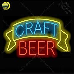 Rzemiosło piwne Neon znak szklana żarówka rurowa światła ikony światła w reklamie sklep wyświetlacz szyld ręcznie neonowe światła neon światła dla pokoju