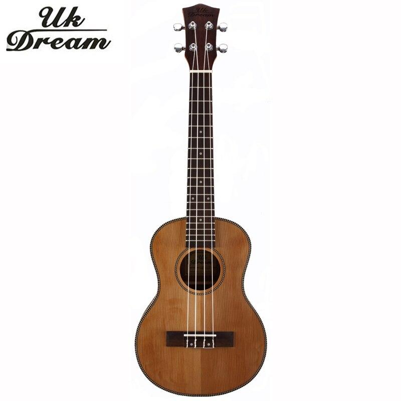 26 Inch Wooden Guitar Musical Instruments Ukulele Guitars 4 Strings Ukelele Guitarra Rosewood Closed Knob ukelele UT-63E